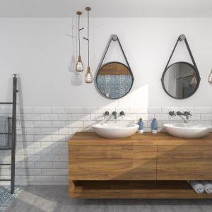 Surowe wnętrza stanowią doskonałą bazę do aranżacji różnych stylów także w łazienkach. Projekt i zdjęcie: Zuzanna Antkiewicz-Wydra (DIZU Studio Projektowe)
