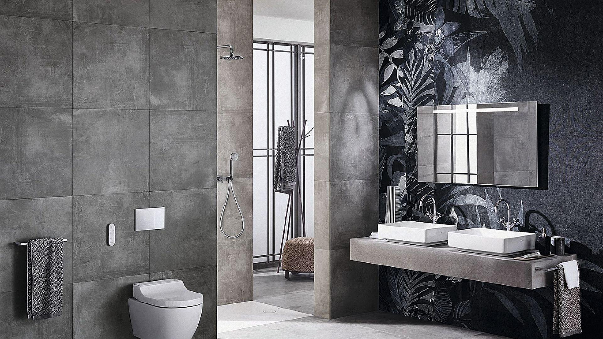 Toaleta myjąca Aqaclean Tuma firmy Geberit wyposażona jest w opatentowaną technologię natrysku WhirlSpray oraz intuicyjny pilot zdalnej obsługi; dostępna również jako deska myjąca. Fot. Geberit