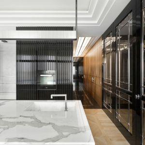 Apartament przy Karowej utrzymany w duchu art deco - kuchnia. Projekt: Tarnowski Division