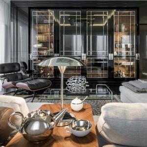 Apartament przy Karowej utrzymany w duchu art deco - salon. Projekt: Tarnowski Division