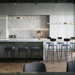 W przestronnych, minimalistycznie zaaranżowanych kuchniach niepodzielnie rządzi mat. Projekt i zdjęcia: Studio.O. organic design