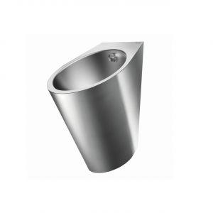Pisuar design FINO ze stali nierdzewnej/Delabie. Produkt zgłoszony do konkursu Dobry Design 2019.
