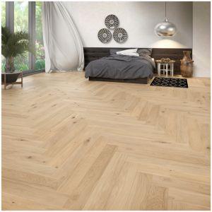 Podłoga we wzorze jodełki. Fot. Baltic Wood