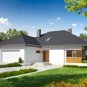Dom, w którym świetnie odnajdą się miłośnicy nowoczesnego designu. Dom Marcel G2. Projekt: arch. Artur Wójciak, Pracownia Projektowa Archipelag