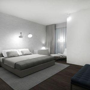 Dom w Piasecznie - główna sypialnia. Projekt i zdjęcia: Wyrzykowski Studio