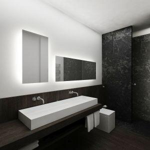 Dom w Piasecznie - łazienka gości. Projekt i zdjęcia: Wyrzykowski Studio