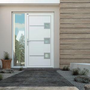 Drzwi z linii Deco z dodatkowymi doświetlami. Fot. Wiśniowski