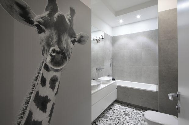 Szara łazienka w nowoczesnym stylu - piękny projekt wnętrza