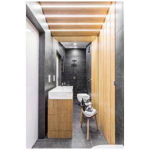 Przytulna łazienka. Projekt: Joanna Rej. Fot. Pion Poziom – Fotografia wnętrz