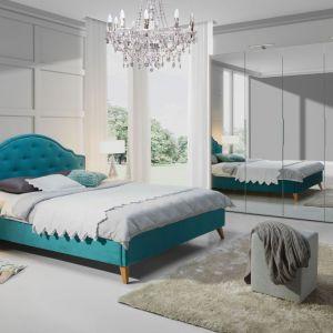 Łóżko tapicerowane Flores z oferty firmy Wajnert Meble w pięknym, turkusowym kolorze. Fot. Wajnert Meble