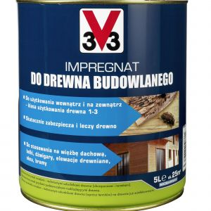 Drewniany dom - impregnat do konstrukcji. Fot. V33