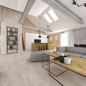 Mężczyźni wysoko cenią stylistykę loft. Projekt: Natalia Robaszkiewicz. Fot. Boske Art