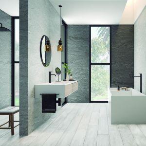 Jasne płytki do łazienki - trendy na 2018 rok. Fot. Laplatera