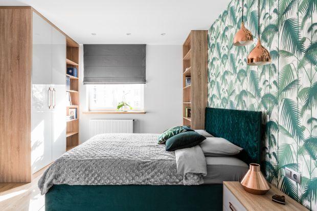 Butelkowa zieleń - propozycje do sypialni