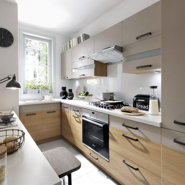 Meble do kuchni w bloku: 10 pięknych kolekcji