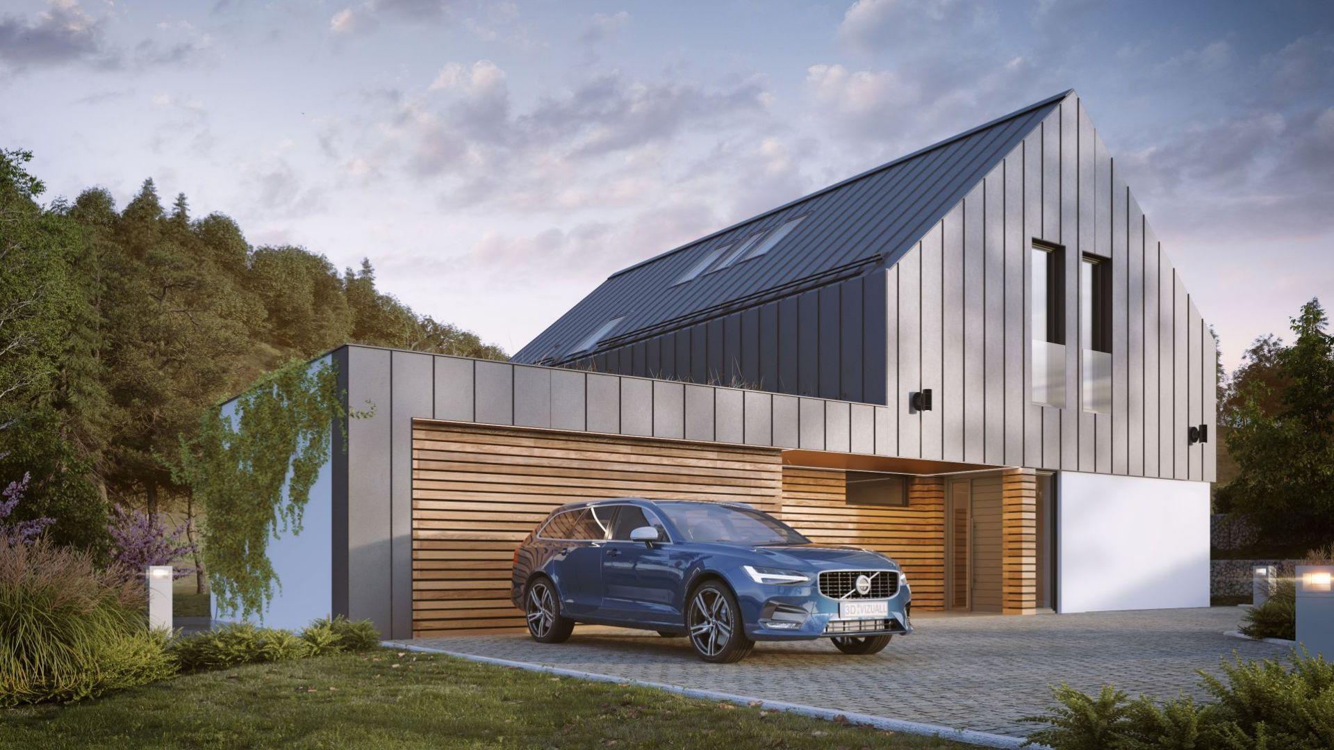 Dom 240 m2 piętrowy z garażem dwustanowiskowym. Fot. Multicomfort Saint Gobain Northouse