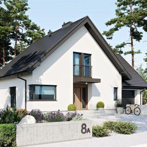 Od frontu budynek czaruje przytulnością. Dom Mini 8 w. II G1. Projekt: arch. Artur Wójciak. Fot. Pracownia Projektowa Archipelag