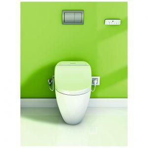 Toaleta myjąca Uspa 7035 z nowoczesnym, dotykowym pilotem zdalnego sterowania gwarantuje dokładną i delikatną higienę miejsc intymnych. Podgrzewana deska, hybrydowy system ogrzewania wody, funkcja suszenia. Dostępna w trzech różnych kształtach w ofercie firmy Uspa. Cena: 2.990 zł. Fot. Uspa