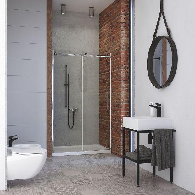 Aranżacja łazienki - zobacz modne czarne dodatki