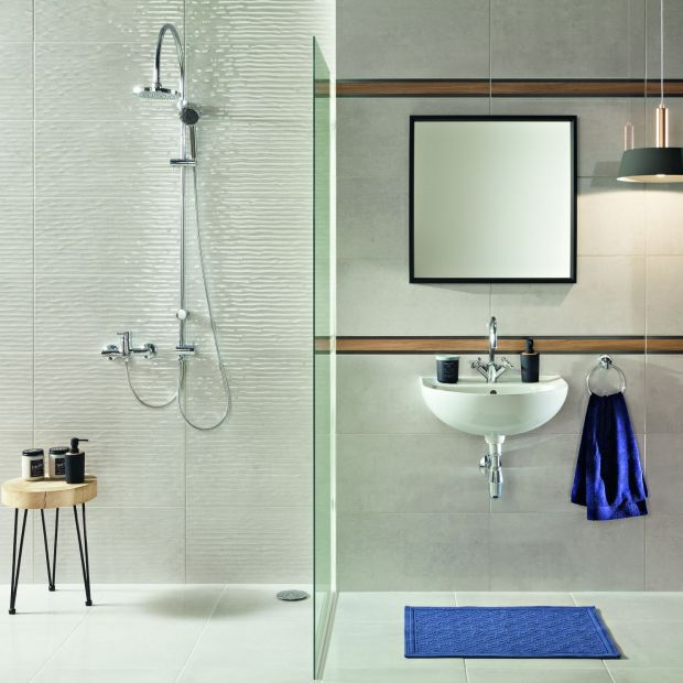 Modna łazienka - kolekcja płytek z rzeźbieniami