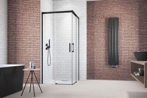 Idea KDD Black - narożna kabina/Radaway