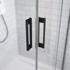 Idea KDD Black - narożna kabina/Radaway.  Produkt zgłoszony do konkursu Dobry Design 2019.