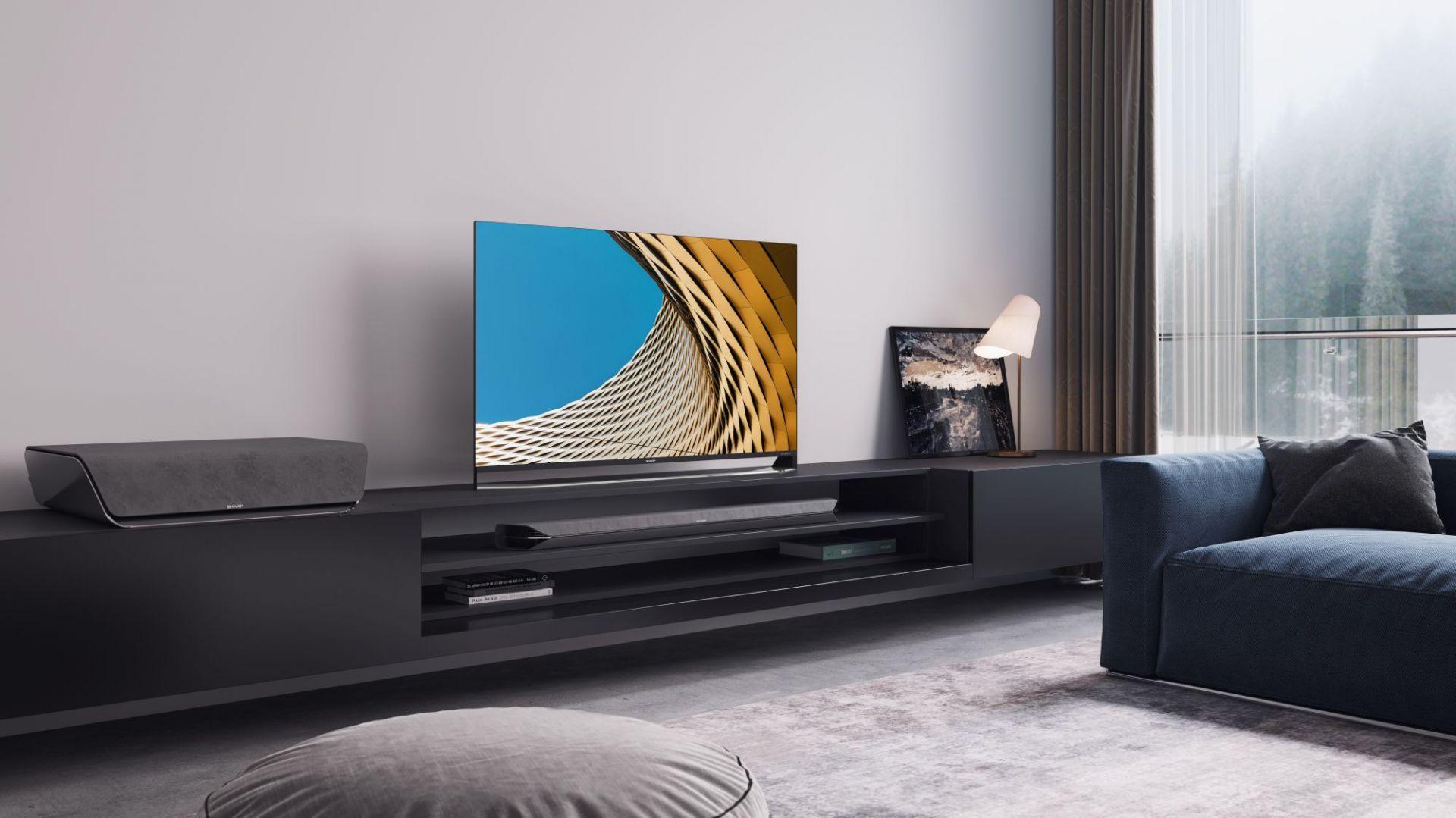 Nowoczesny telewizor. Fot. Pininfarina/Sharp