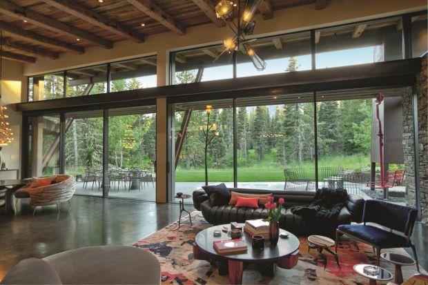 Piękne wnętrze - zobacz amerykańską rezydencję w Montanie