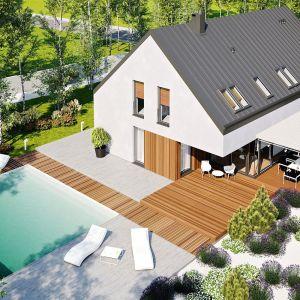 Projekt Daniel VI G2 to doskonały wybór dla dużej rodziny, która marzy o przestronnym i wygodnym domu w typie stodoły. Dom Daniel VI G2 . Projekt: arch. Artur Wójciak. Fot. Pracownia Projektowa Archipelag