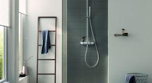 """Nowy model prysznica Euphoria SmartControl jest sterowany za pomocą panelu wykorzystującego technologię """"push and turn"""". Jego minimalistyczny design zapewnia szczególną wygodę w małych łazienkach."""