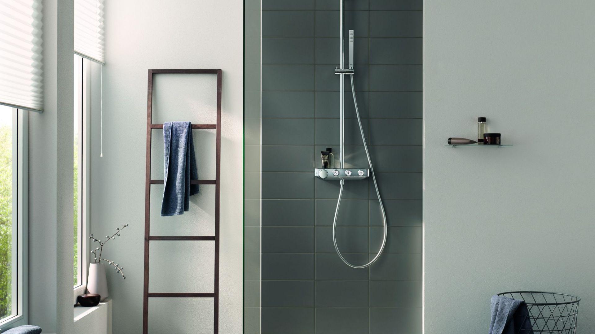 Strefa prysznica - panel prysznicowy Euphoria SmartControl. Fot. Grohe