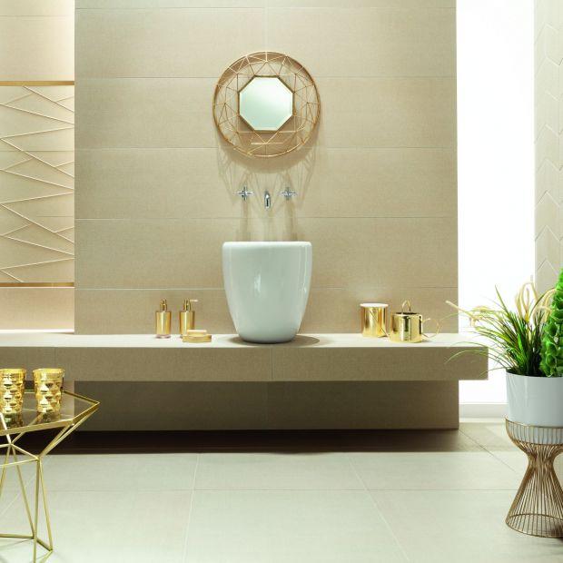 Modne płytki do łazienki - kolekcje ze złotem i srebrem