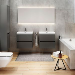 Meble do łazienki z kolekcji Crea o ponadczasowej, minimalistycznej formie. Dostępne w ofercie firmy Cersanit. Fot. Cersanit