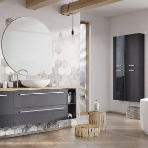 Meble łazienkowe z kolekcji Kwadro Plus dostępne w ofercie firmy Elita. Fot. Elita