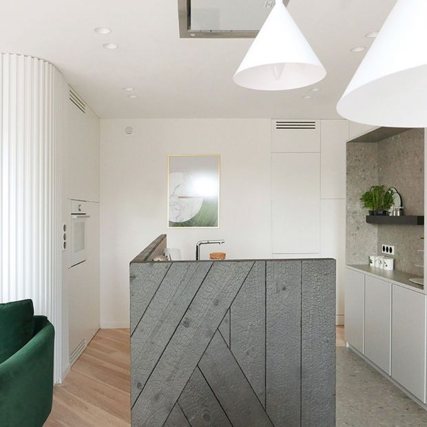 Otwarta kuchnia - zobacz minimalistyczne wnętrze