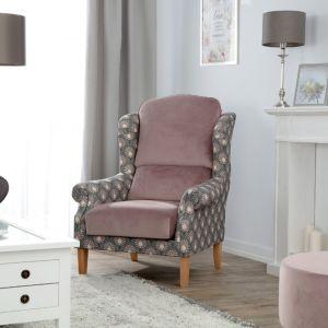Fotel dwukolorowy z kolekcji Gardenia i Velvet. Fot. Dekoria