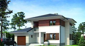 """Cyprys to reprezentacyjny, nowoczesny, a jednocześnie niewielki dom o powierzchni 136 metrów, stanowiący alternatywę projektową dla osób poszukujących rozwiązań wychodzących poza """"utarte schematy""""."""