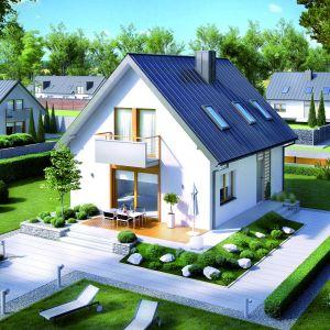 Wąska działka wymaga rozsądnego rozplanowania oraz zastosowania specjalistycznych zabiegów, które pozwolą optymalnie wykorzystać jej uwarunkowania. Najlepszym rozwiązaniem w przypadku posiadania tego typu terenu jest dom piętrowy lub dom z poddaszem użytkowym, który cechuje nieduża powierzchnia zabudowy w stosunku do powierzchni użytkowej. Projekt Andreas. Fot. Pracownia Projektowa Archipelag