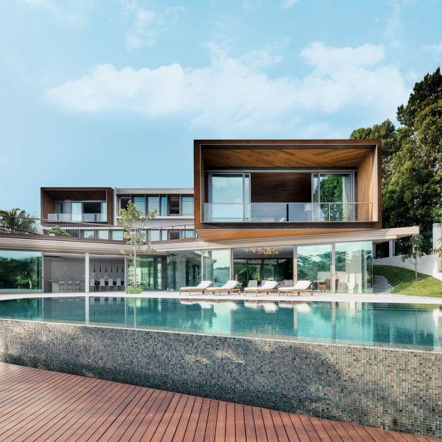 Dom prosto z Singapuru - otwarty na światło i krajobraz