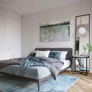 Aranżacja sypialni sprzyja relaksowi. Projekt i zdjęcia: JMW Architekci