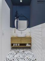 Toaleta personelu. Wizualizacja: MEEKO Architekci