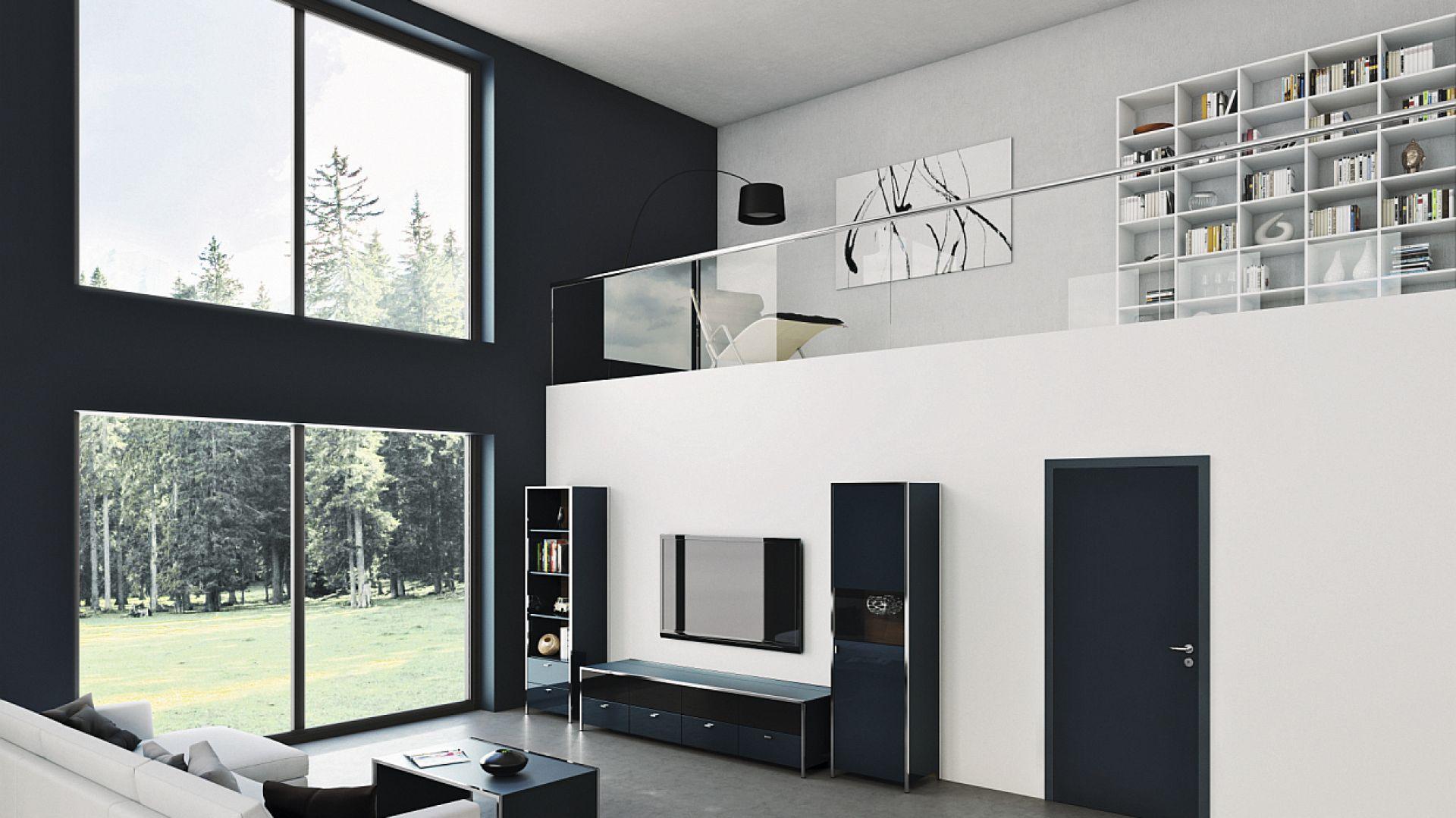 Drzwi drewniane z serii ConceptLine dają szerokie możliwości aranżacji – poprzez łączenie powierzchni ultramatowej, błyszczącej lub strukturalnej z kolorami białym, jasnoszarym lub antracytowym. Te z powierzchnią Duradecor Ultramat w kolorze antracytowym mogą służyć np. jako tablica kredowa. Cena: 1.600 zł netto. Dostępne w ofercie firmy Hörmann. Fot. Hörmann