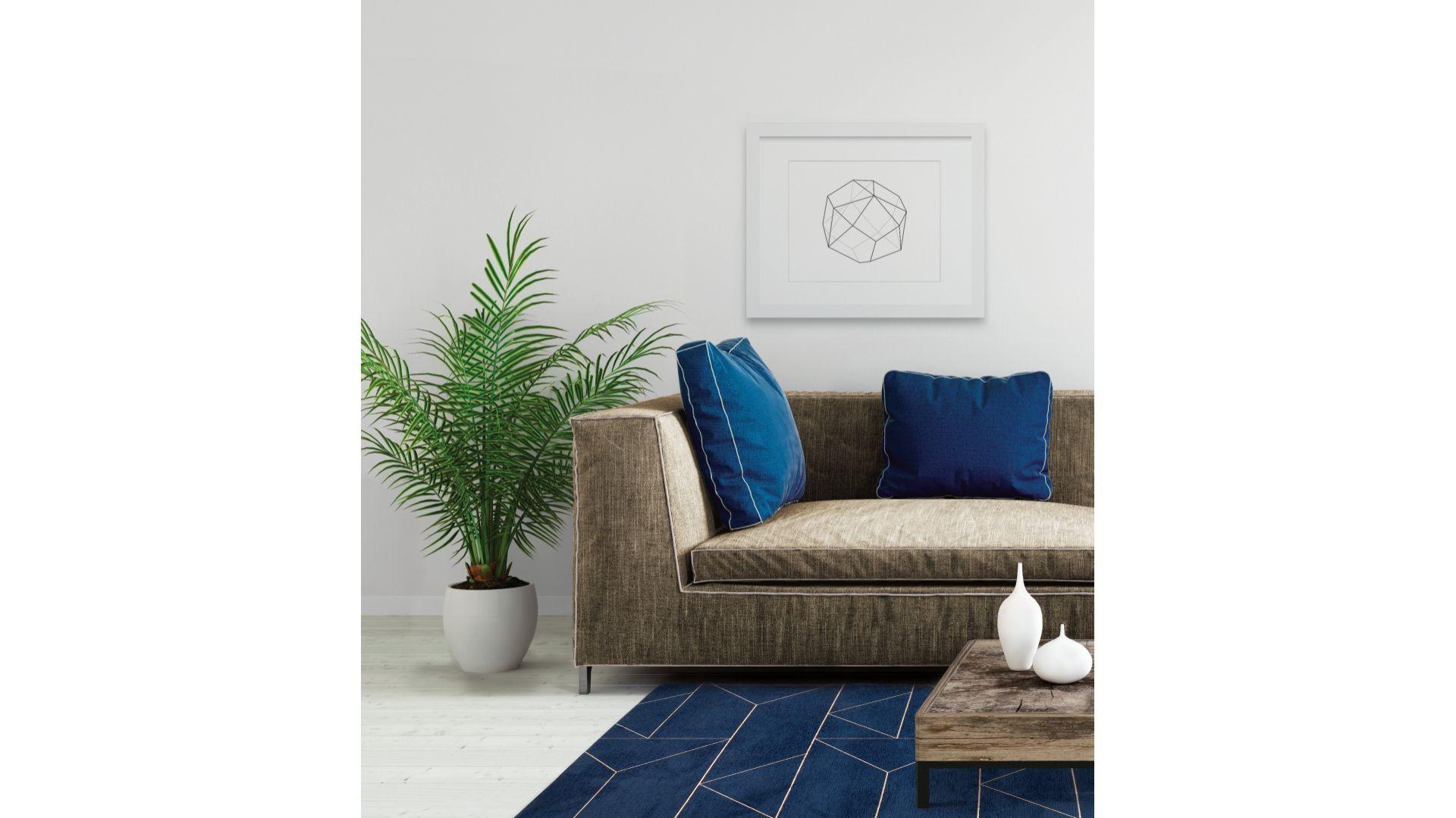 Marlin Indigo - dywan łatwoczyszczący by Carpet Decor/Fargotex. Produkt zgłoszony do konkursu Dobry Design 2019.