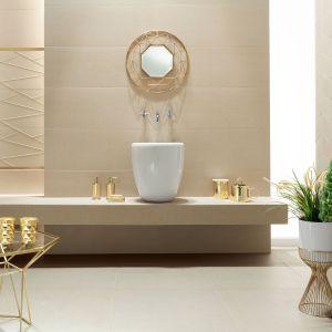 Modne płytki ceramiczne - kolekcja House of tones beige. Fot. Tubądzin