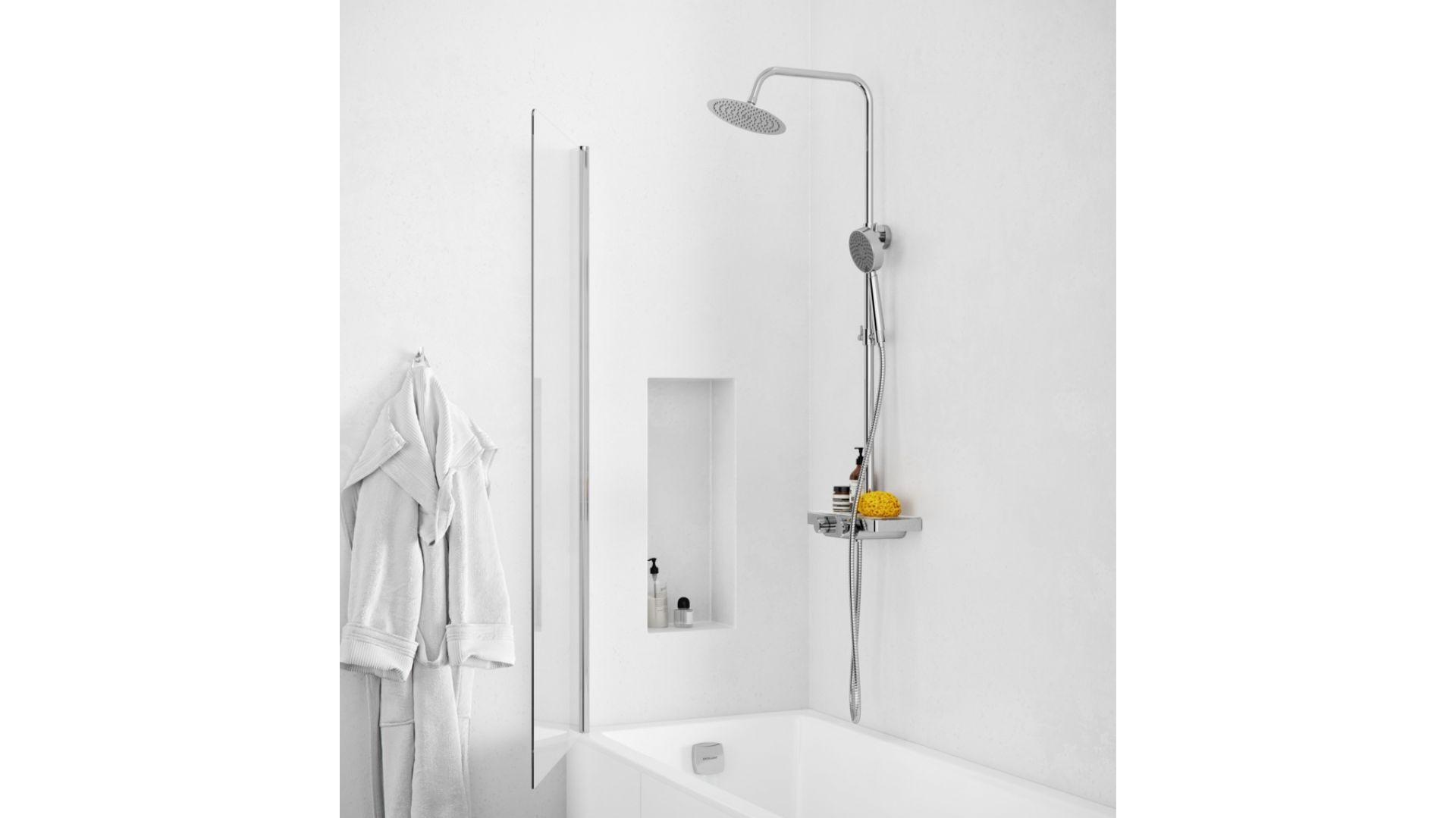 Zestaw prysznicowy Rain Glacier/Excellent. Produkt zgłoszony do konkursu Dobry Design 2019.