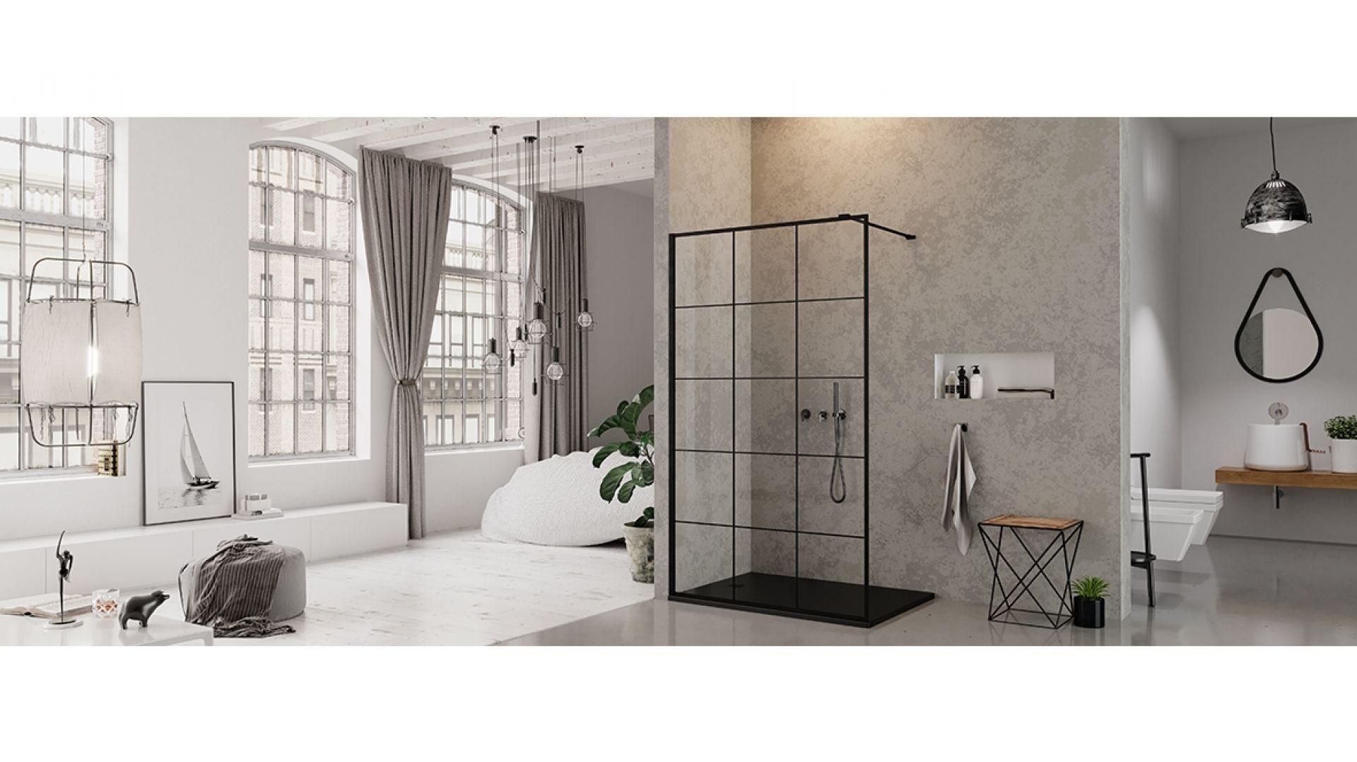 Kolekcja kabin prysznicowych New Modus Black/New Trendy. Produkt zgłoszony do konkursu Dobry Design 2019.
