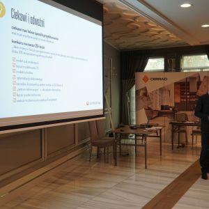 Marcin Pietrzyk reprezentant firmy CAD Projekt K&A