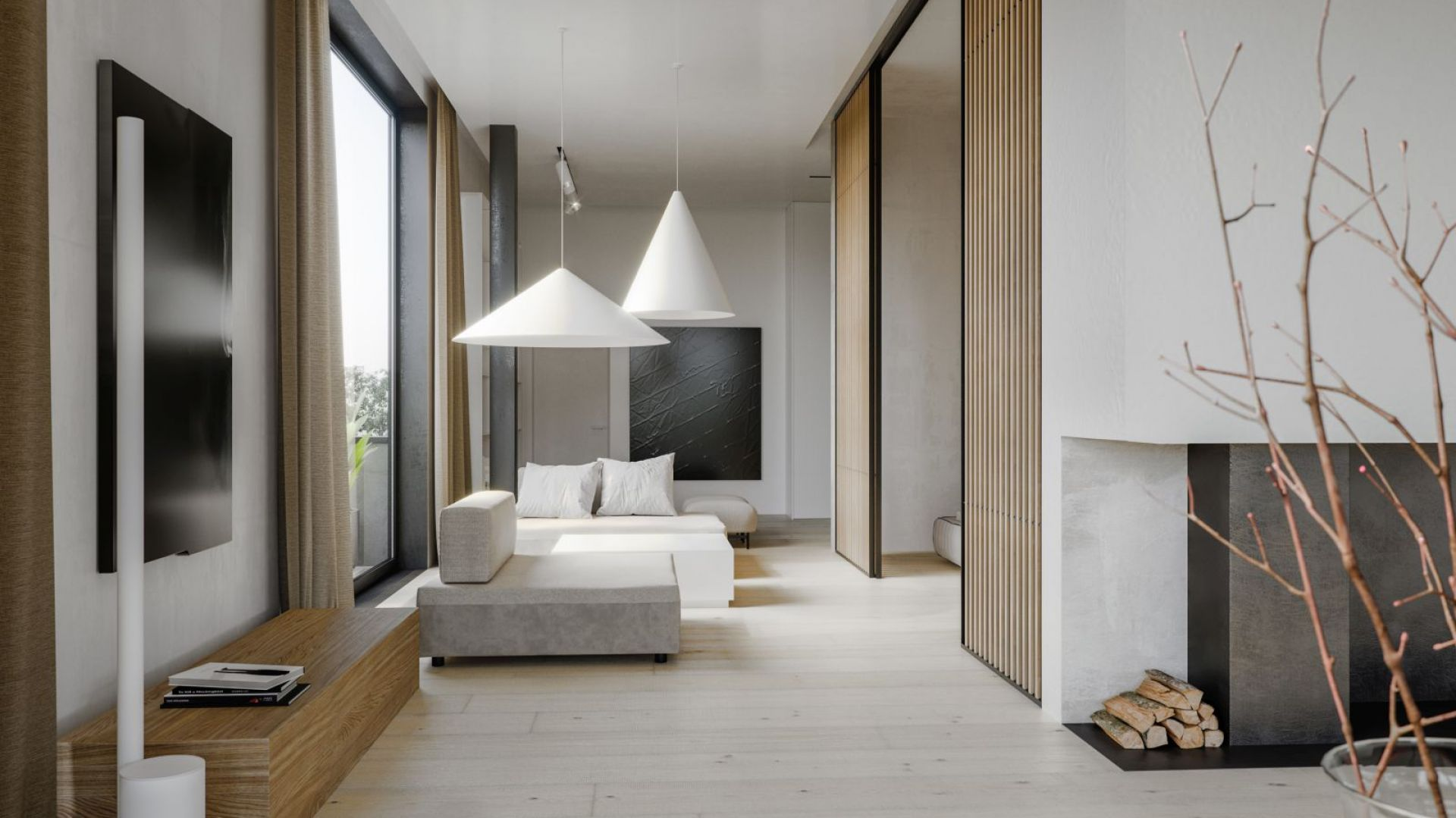 Minimalistyczny styl - architektura w japońskim stylu . Projekt: Aga Kobus, Grzegorz Goworek. Fot. Studio.O.