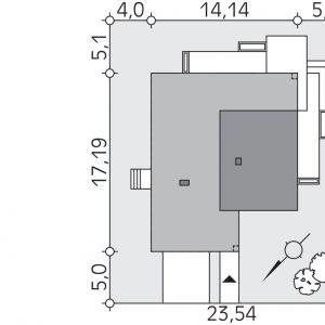 Usytuowanie domu na działce. Fot. Biuro Projektów MTM Styl