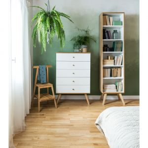 Meble do sypialni z kolekcji Nature/VOX. Produkt zgłoszony do konkursu Dobry Design 2019.